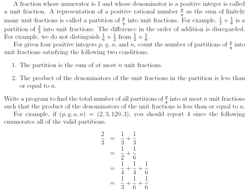 Unit Fraction Partition